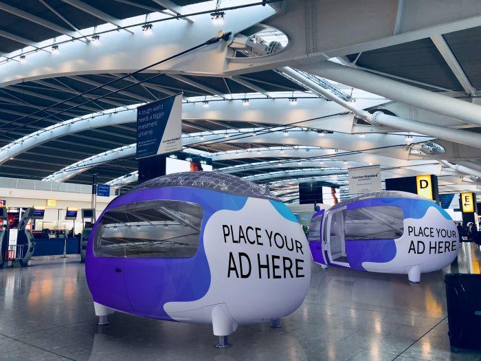 EcoCapsule airport sleep pods